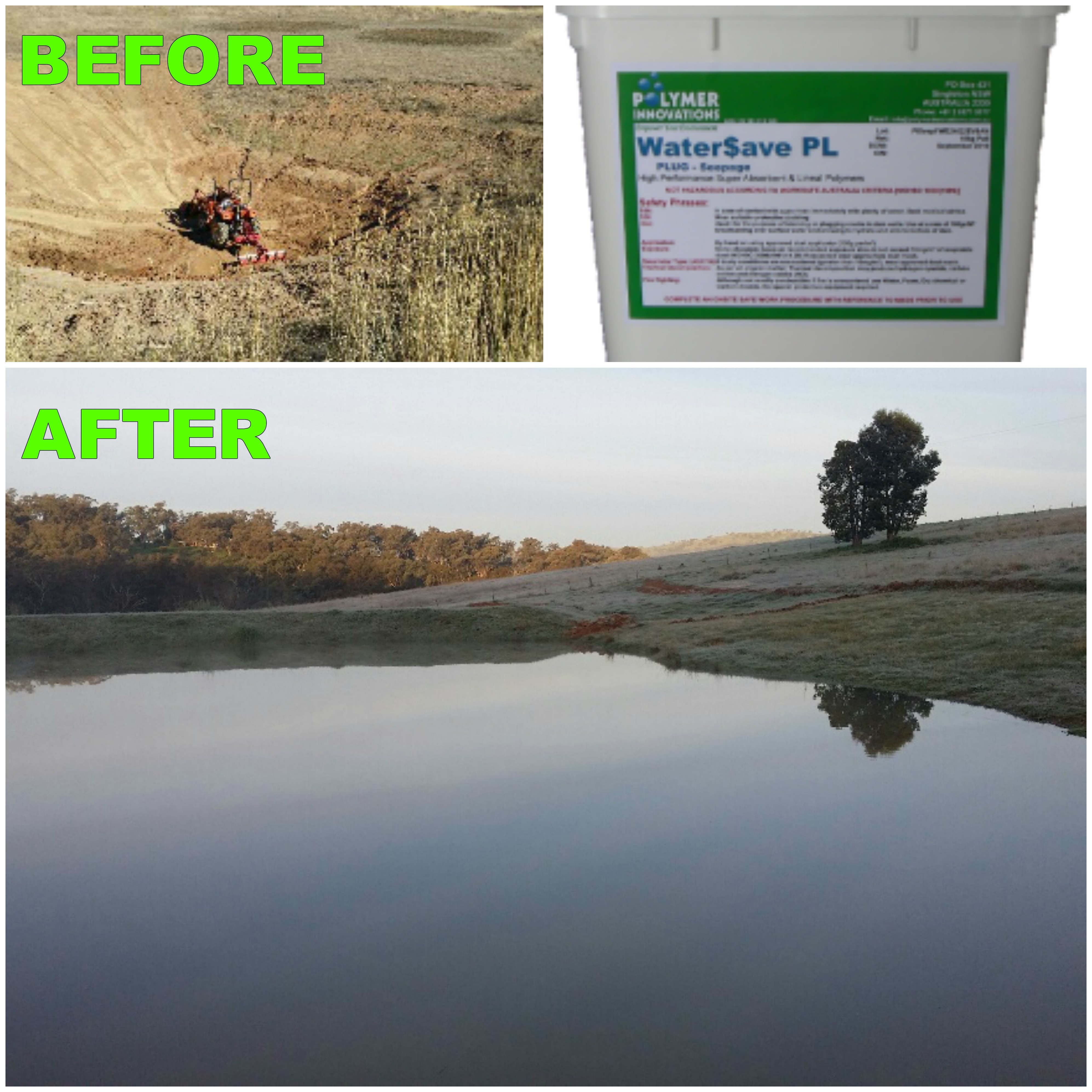Simply Seal It With WaterSave Dam Sealer